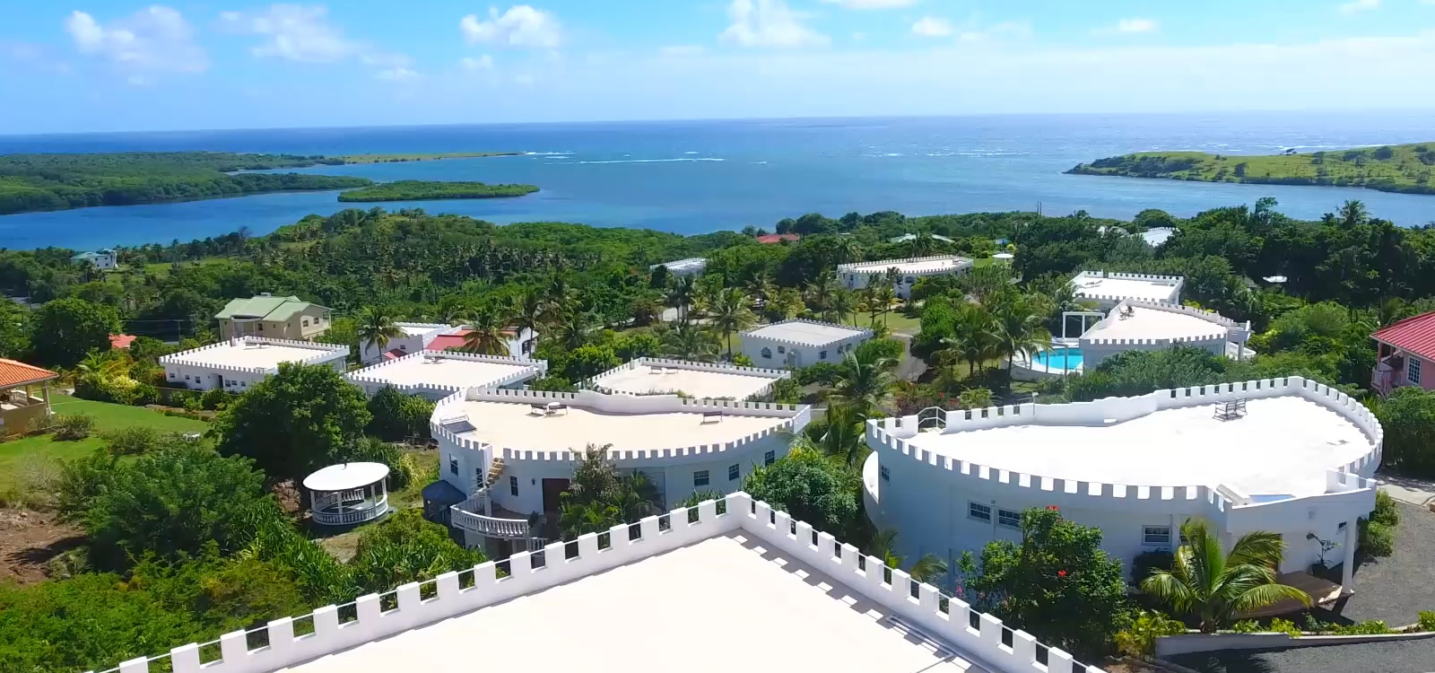 Castles in Paradise, Savannes Bay, St Lucia - Aerial View